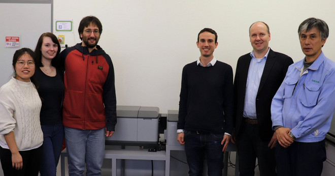 Picture of the dedication of the new JASCO CPL300 CPL spectrometer.